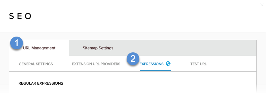 URL Management > Expressions