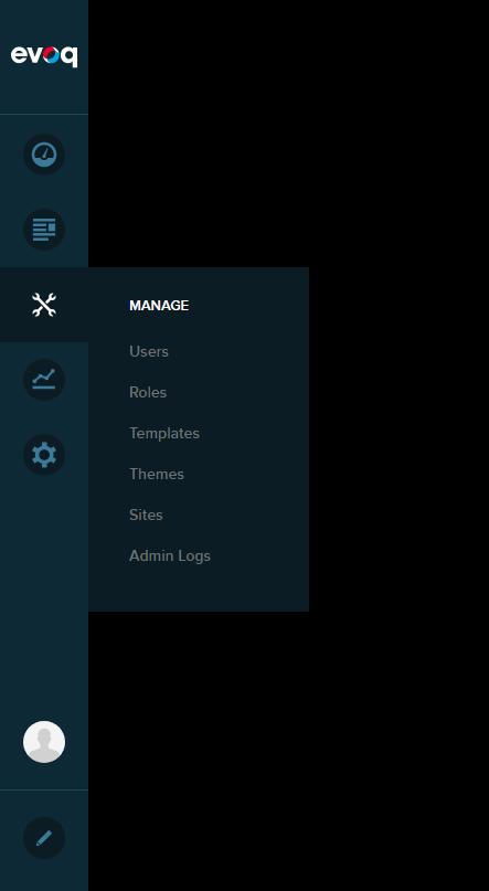 Persona Bar > Manage > Admin Logs
