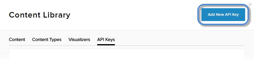 Add New API Key button