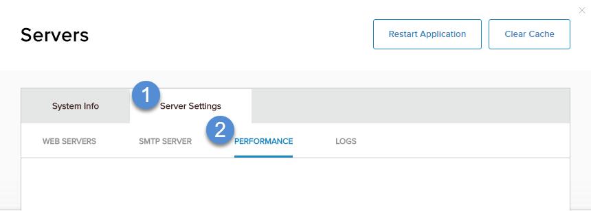 Server Settings > Performance
