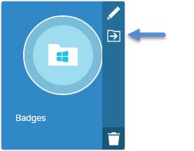 Folder card iconbar - move