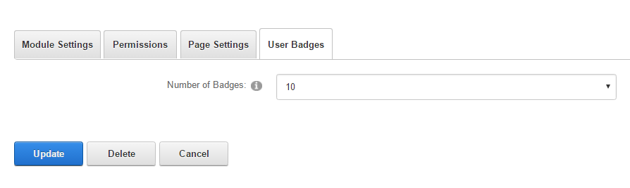 Module Settings — User Badges