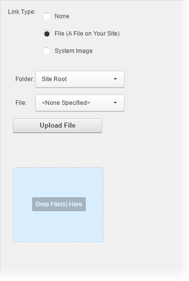 Choose a file from your site.