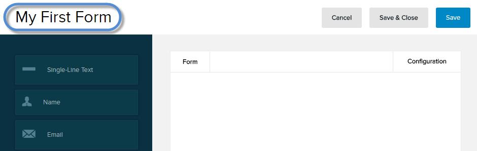 Enter the form title.