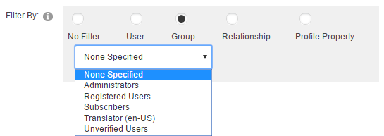Module Settings — Member Directory — Filter by Group