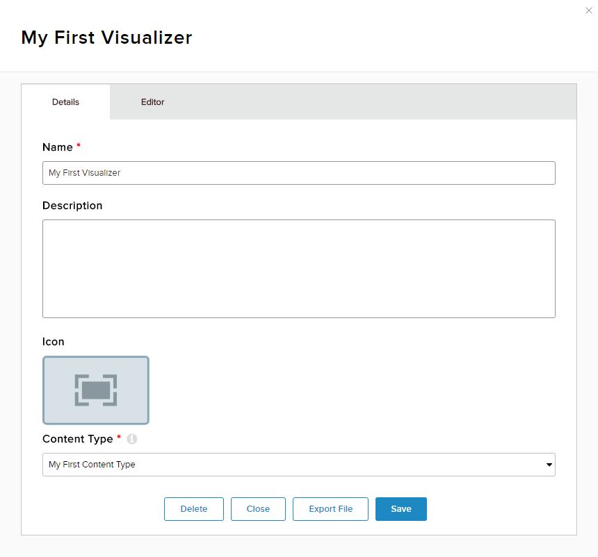 Visualizer Details tab