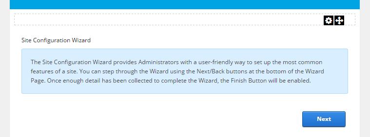 Site Wizard module