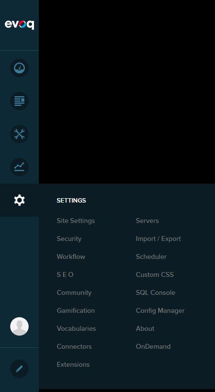 Persona Bar > Settings > Site Settings