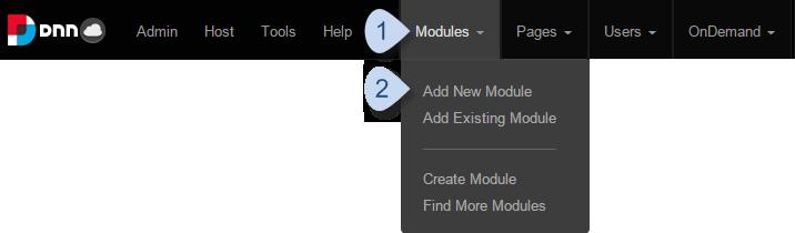 Module > Add New Module