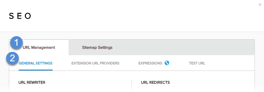URL Management > General Settings
