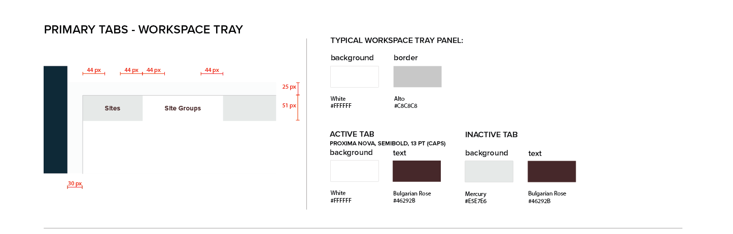 Persona Bar Style Guide - Primary Tabs - Workspace Tray