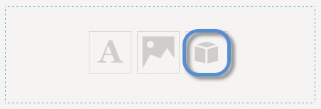 Pane with content icons