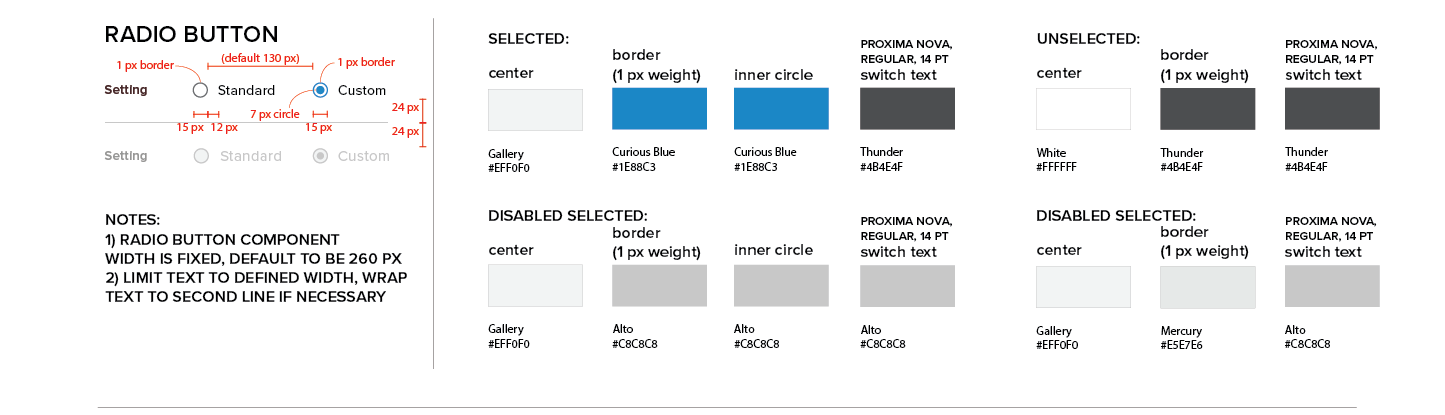 Persona Bar Style Guide - Radio Button