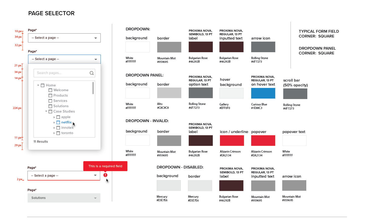 Persona Bar Style Guide - Page Selector